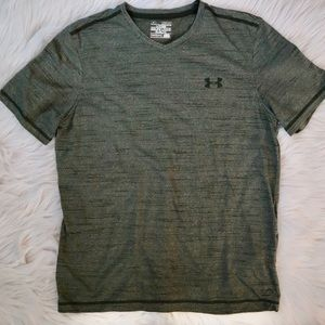 Under Armour Olive V Neck Tee